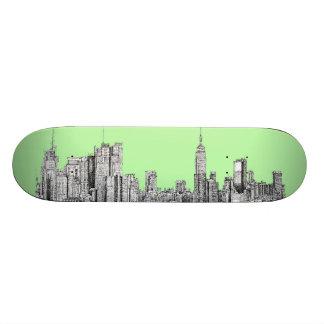 New York lime green 18.1 Cm Old School Skateboard Deck