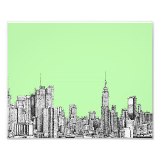 New York lime green Photograph