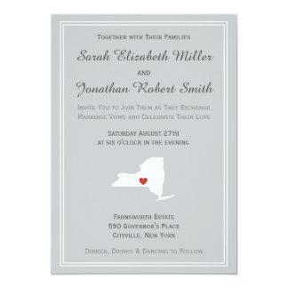 "New York Love - Customizable Wedding Invitation 5"" X 7"" Invitation Card"
