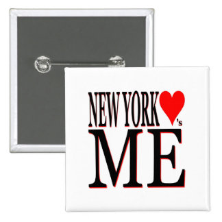 New York Loves Me Pinback Button