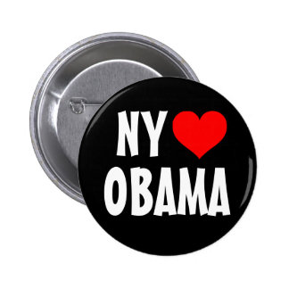 New York Loves Obama Button