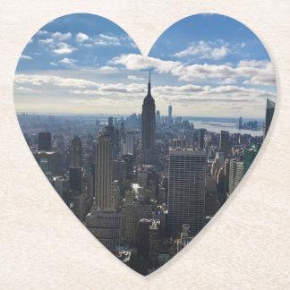 New York Manhattan Heart Coaster - Empire State