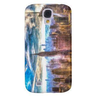 New York Manhattan Skyline Art Galaxy S4 Cover