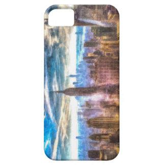 New York Manhattan Skyline Art iPhone 5 Case