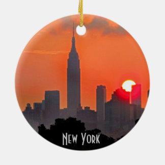 New York Manhattan Skyline Ornament