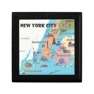 New York  Map Gift Box