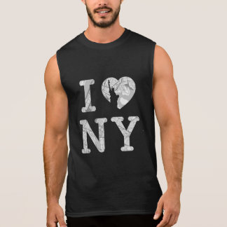 New York Map T-shirt Sleeveless