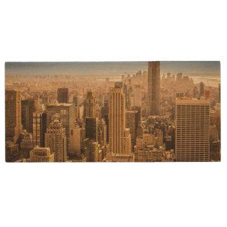 New York Wood USB 2.0 Flash Drive