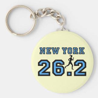 New York Marathon Basic Round Button Key Ring