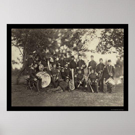 New York Militia Military Band, Arlington, VA 1861 Poster