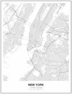 New York City Map Posters Photo Prints Zazzle Au