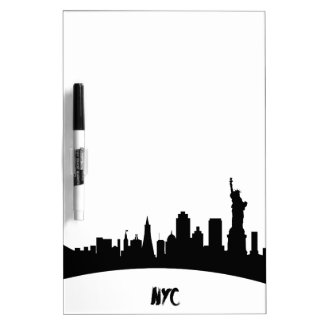 New York, Modern, Map Dry-Erase Whiteboards