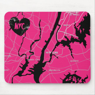 New York, Modern, Map Mouse Pad