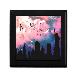 New York, Modern, Map Small Square Gift Box