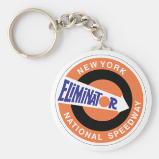 New York National Speedway Basic Round Button Key Ring
