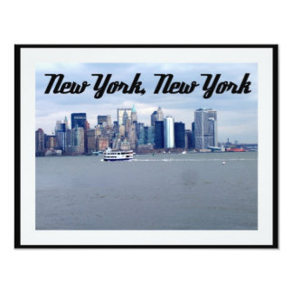 New York, New York 11 Cm X 14 Cm Invitation Card