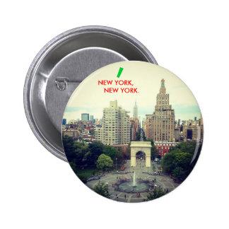 NEW YORK, NEW YORK button