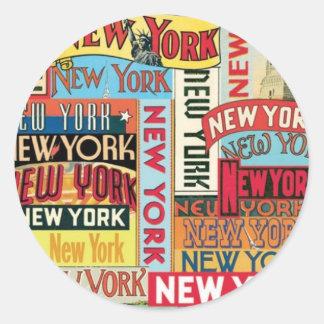 New York New York Classic Round Sticker