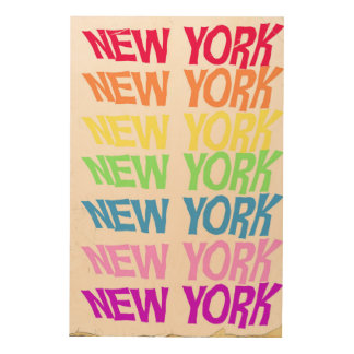 New York New York Wood Wall Art