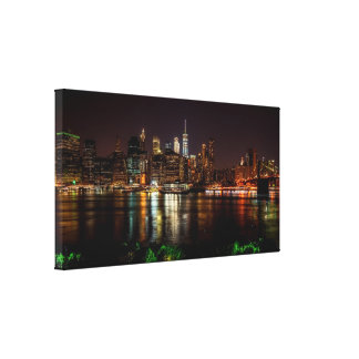 New York Night City Lights Canvas Print