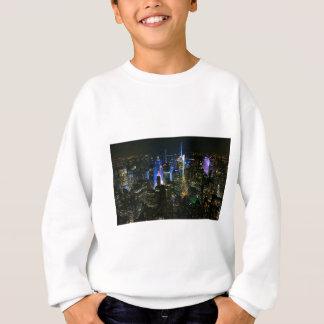 New York Night Manhattan United States Skyscraper Sweatshirt