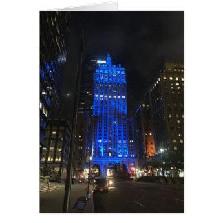 New York Night NYC Park Avenue Photo Architecture Card