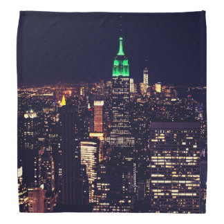 New York night skyline Bandana