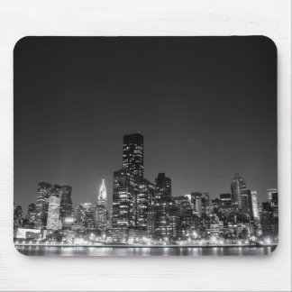 New York Night Skyline Mouse Pad