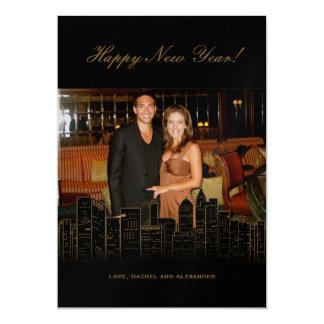 New York Nights Holiday Photo Card 13 Cm X 18 Cm Invitation Card