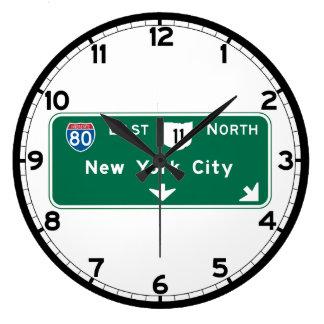 New York, NY Large Clock