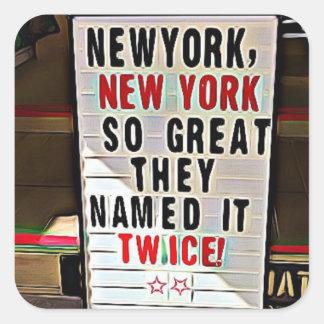 New York, NY New York City Stickers