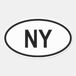 """New York """"NY"""" Oval Sticker"""
