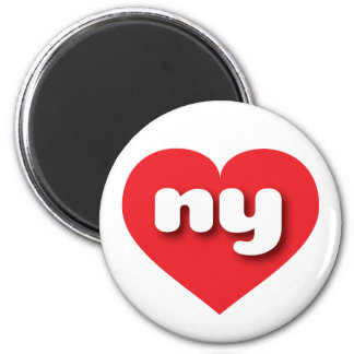 New York ny red heart Magnets