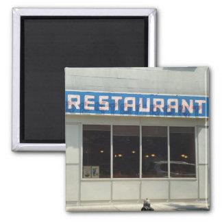 New York, NY Restaurant Square Magnet