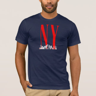 New York NY Skyline Logo Design T-Shirt