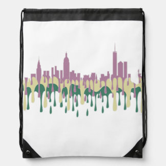 NEW YORK, NY SKYLINE PCG - DRAWSTRING BAG