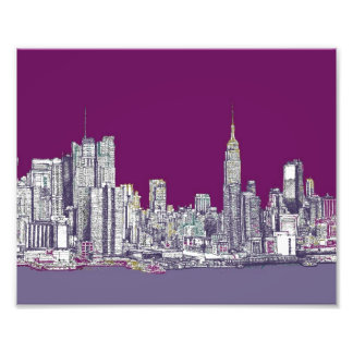 New York NYC purple Photograph