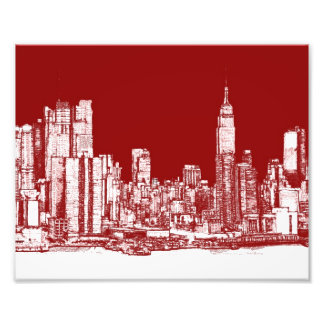New York NYC red Photo Print
