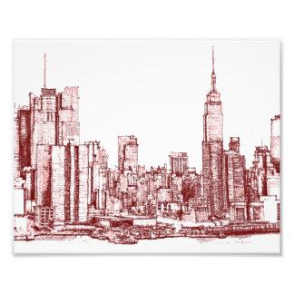 New York NYC red Photographic Print