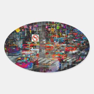 New York Oval Sticker