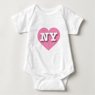 New York Pink Heart - Big Love Baby Bodysuit