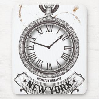 New York Pocket Watch Mousepads