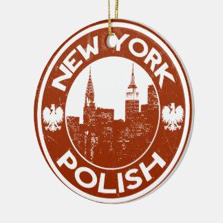 New York Polish American Ceramic Ornament