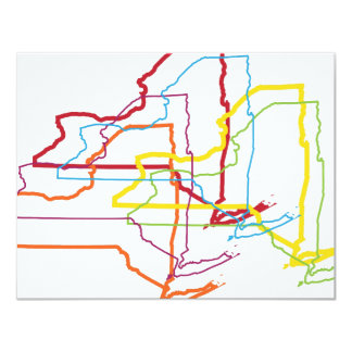 new york pride blur 11 cm x 14 cm invitation card