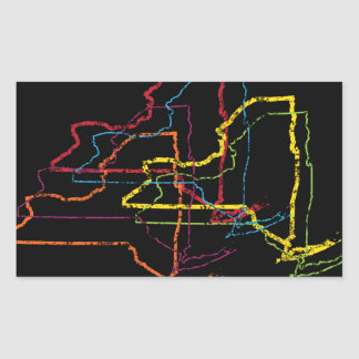 new york pride blur rectangular sticker