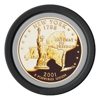 New York Proof Gold State Quarter Poker Chips