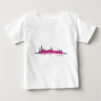 New York Purple Skyline Baby T-Shirt