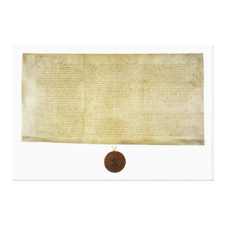 New York Ratification of the Bill of Rights (1790) Canvas Prints