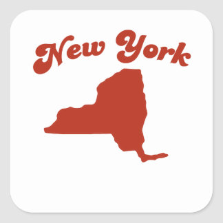 NEW YORK Red State Stickers