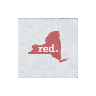 NEW YORK RED STATE STONE MAGNET